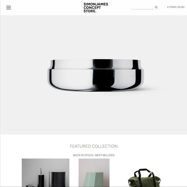 Simon James Design store website thumbnail