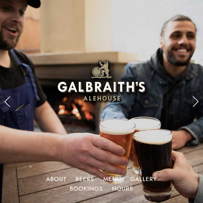 Galbraith's Alehouse website home page