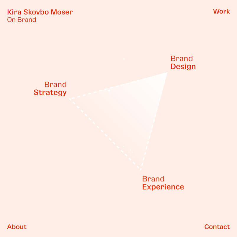 Kira Skovbo branding website by Philip Sole
