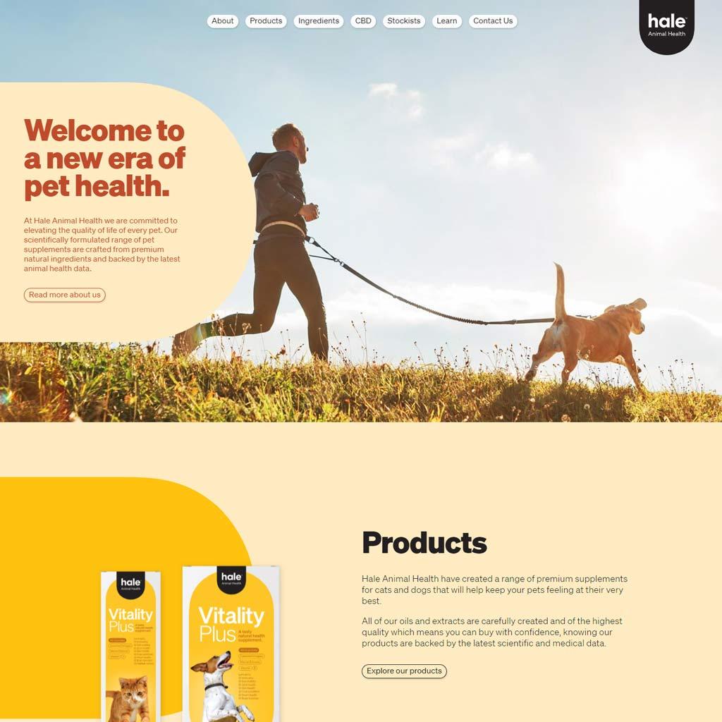 Hale Animal Health homepage